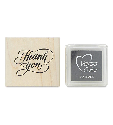 MARBY & ELM Thank you stamp and pad set