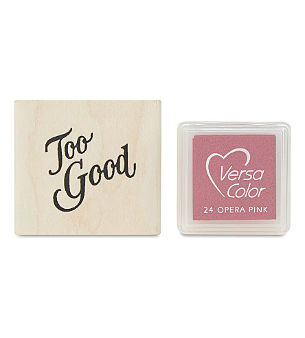 MARBY & ELM Too good stamp and pad set