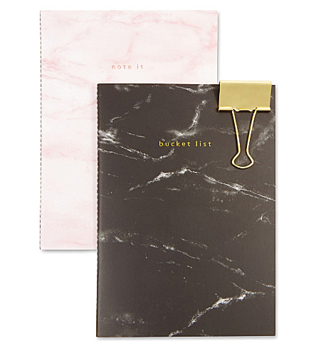 SWEET AND SOUR Marble print notebooks set of two