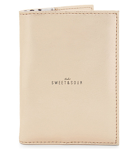 SWEET AND SOUR Copper passport holder
