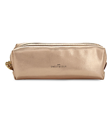 SWEET AND SOUR Square copper make-up bag