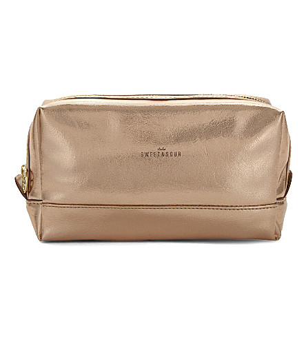 SWEET AND SOUR Rectangle copper make-up bag