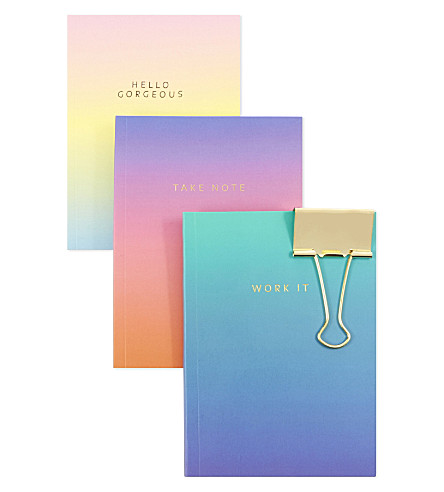 SWEET AND SOUR Ombré notebooks set of three