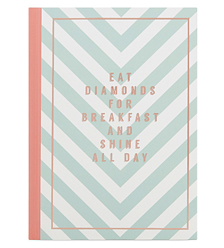SWEET AND SOUR Eat Diamonds For Breakfast & Shine All Day a5 notebook