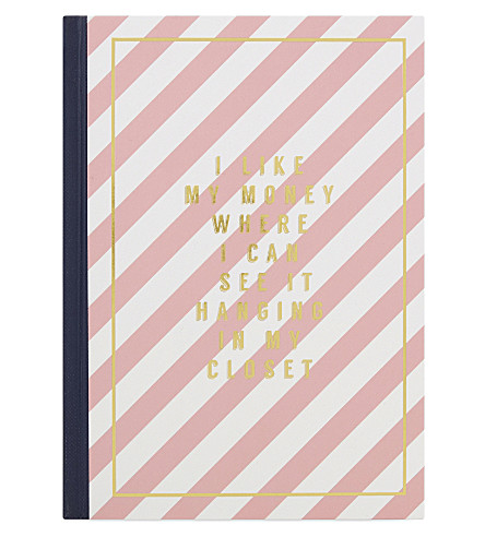 SWEET AND SOUR I Like My Money Where I Can See It Hanging In My Closet a5 notebook