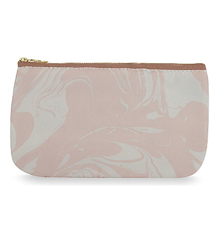 SWEET AND SOUR Marble print wash bag