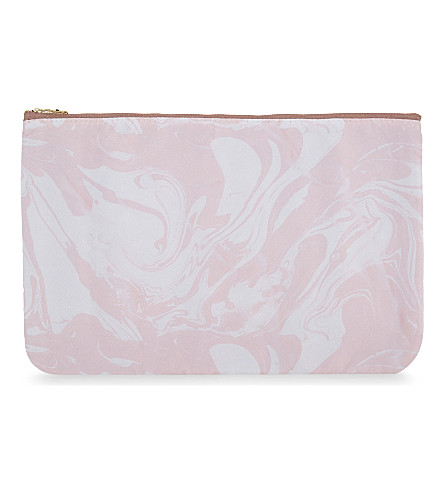 SWEET AND SOUR Pink marble large pouch