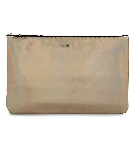 SWEET AND SOUR Large iridescent make-up bag