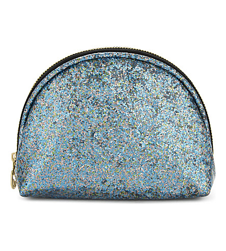 SWEET AND SOUR Semi-circle glitter make-up bag