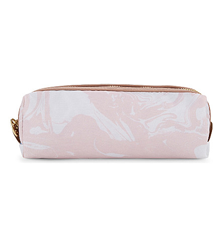 SWEET AND SOUR Pink marble small make-up bag