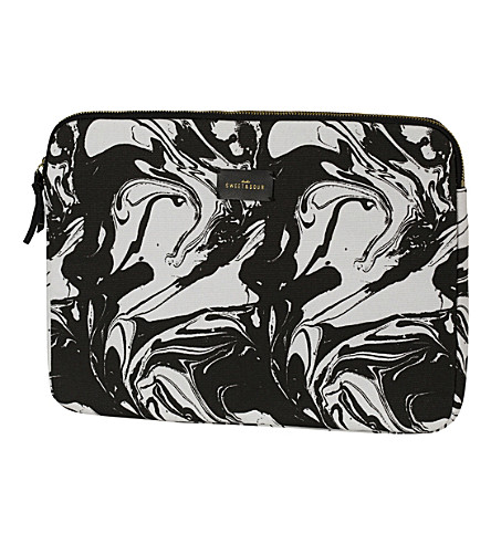 SWEET AND SOUR Marble-print tablet sleeve 9.7