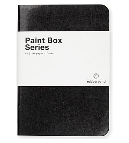 RUBBER BAND Paint Box Notebook A6