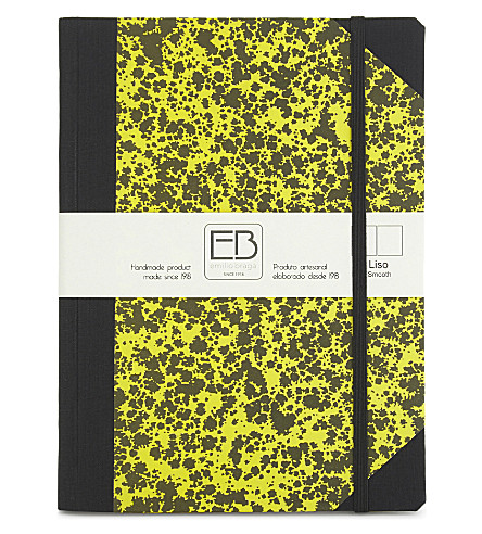 EMILO BRAGGA Speckled print A5 notebook