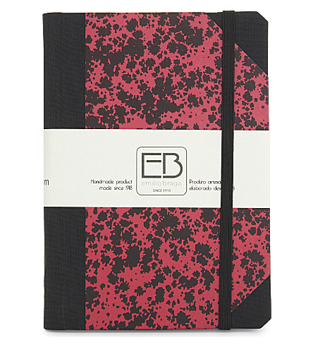 Speckled print A6 notebook