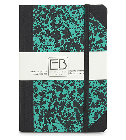 EMILO BRAGGA Speckled print A6 notebook