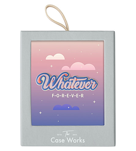 PRINT WORKS 'Whatever' leather sticker