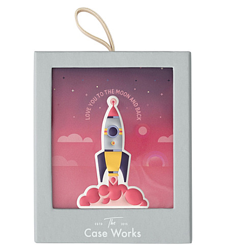 PRINT WORKS Rocket leather sticker