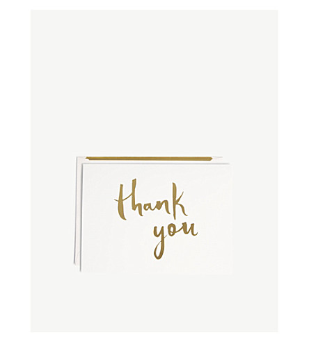 KATE SPADE NEW YORK Thank you card set of 10