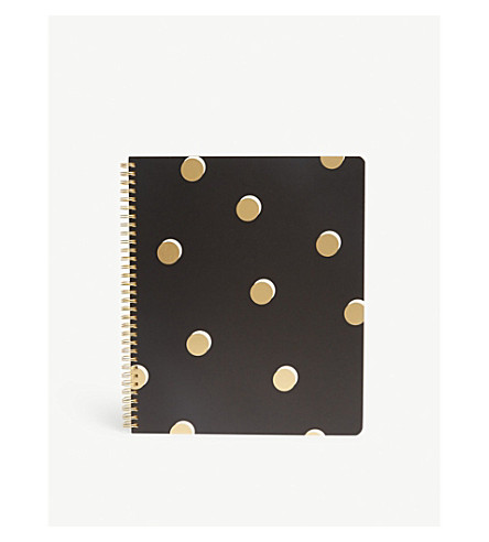 KATE SPADE NEW YORK Dot Print Notebook 28x24cm