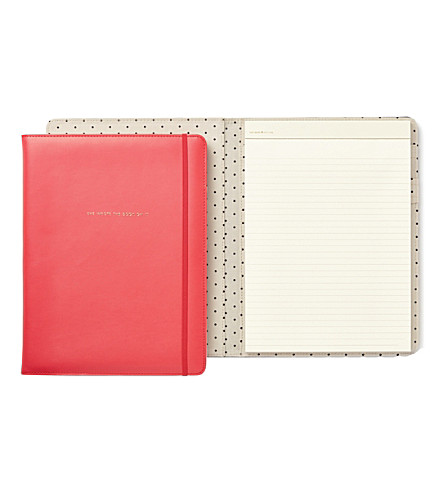 KATE SPADE NEW YORK She Wrote The Book On It faux-leather folio notepad