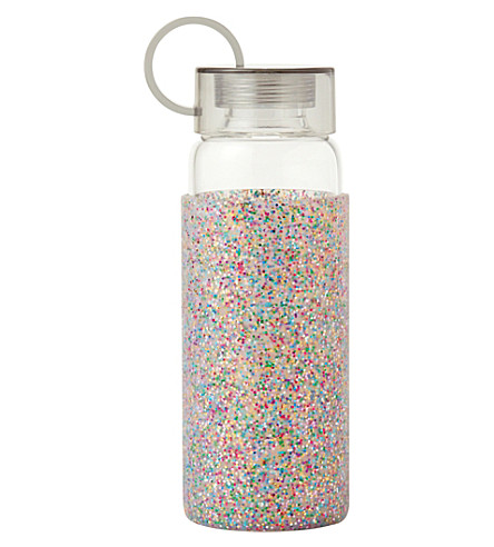 KATE SPADE NEW YORK Glitter glass water bottle 450ml