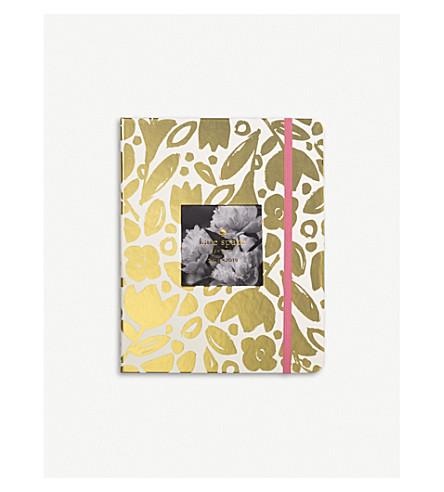 KATE SPADE NEW YORK Gold Floral diary 23.5cm x 19cm