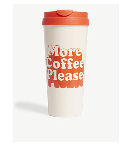 BANDO 'More Cofffee Please' thermal mug