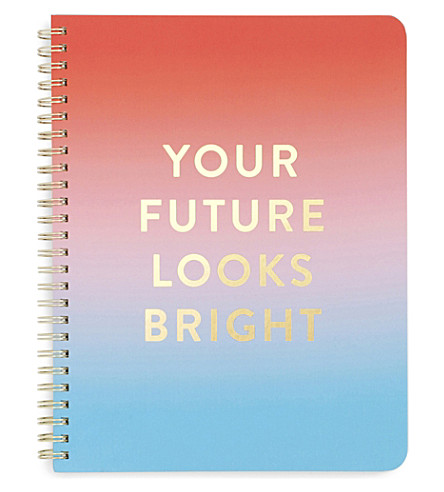BANDO Rough Draft Your Future Looks Bright notebook