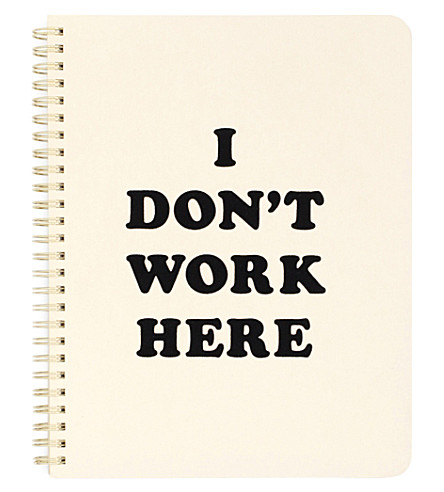 BANDO Rough Draft I Don't Work Here notebook
