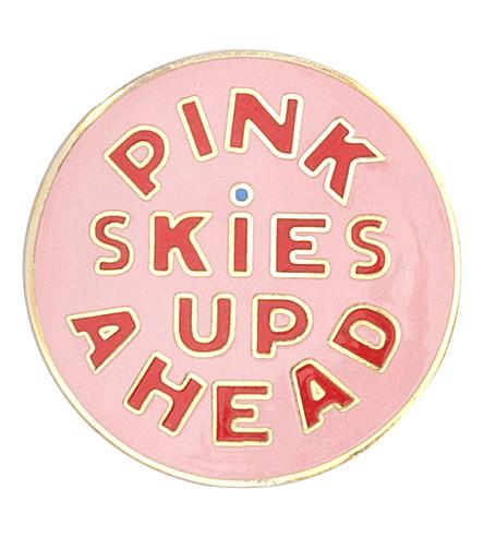 BANDO 'Pink skies up ahead' enamel pin