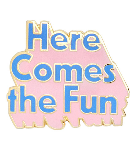 BANDO 'Here comes the fun' enamel pin