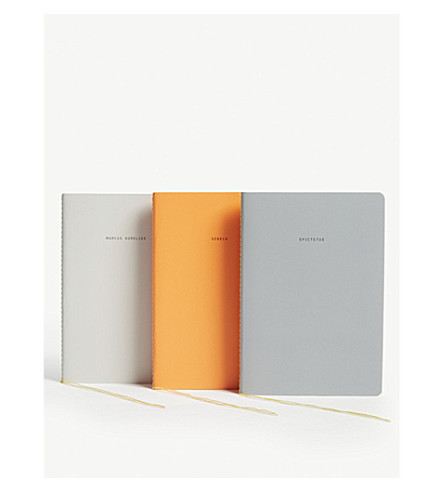 THE SCHOOL OF LIFE The Stoics notebooks set of three