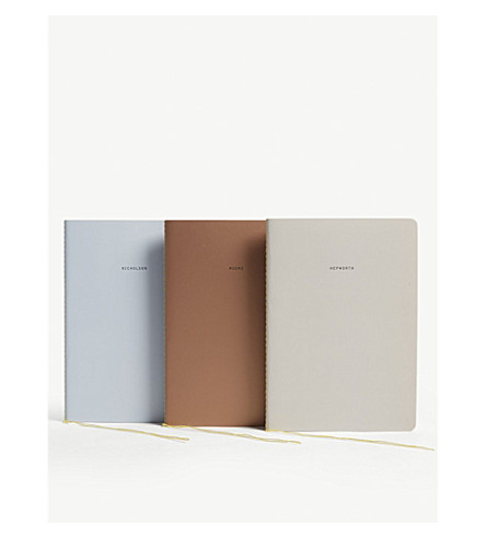 THE SCHOOL OF LIFE The English Modernists notebooks set of three