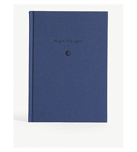 THE SCHOOL OF LIFE Writing as Therapy Night Thoughts notebook