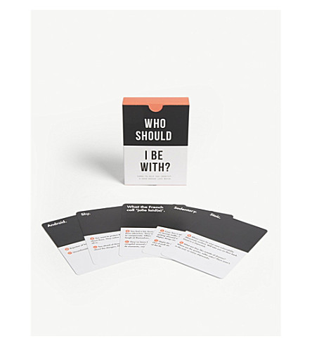 THE SCHOOL OF LIFE 'Who should I be with?' card game