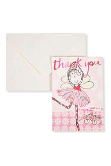 CAROLINE GARDNER Fairy ballerina thank you cards pack of 10