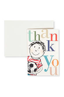 CAROLINE GARDNER Pack of 10 Football Thank you cards