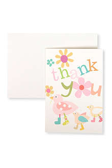 CAROLINE GARDNER Pack of 10 Duck Thank You cards