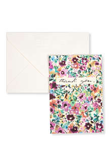 CAROLINE GARDNER Pack of 10 floral thank you cards