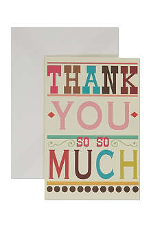 CAROLINE GARDNER Pack of 10 thank you cards