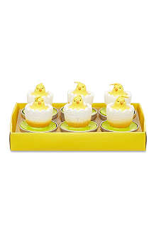 GISELA GRAHAM Box of 6 chick in egg candles