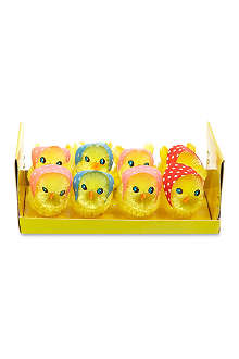 GISELA GRAHAM Box of eight chicks with scarf
