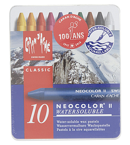 CARAN D'ACHE Neocolor II water-soluble pastels tin 10