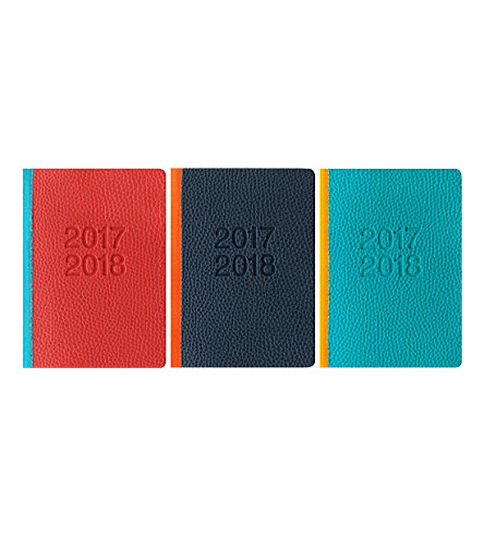 FILOFAX Two tone A6 week-to-view 2017-18 diary