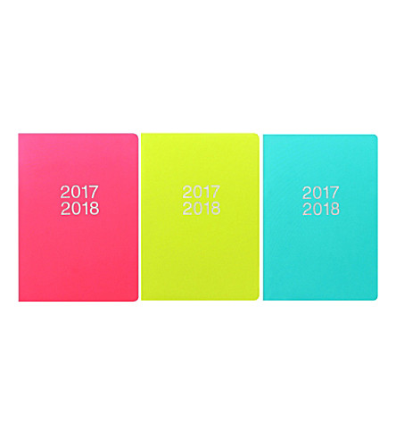 FILOFAX Dazzle A5 week-to-view 2017-18 diary