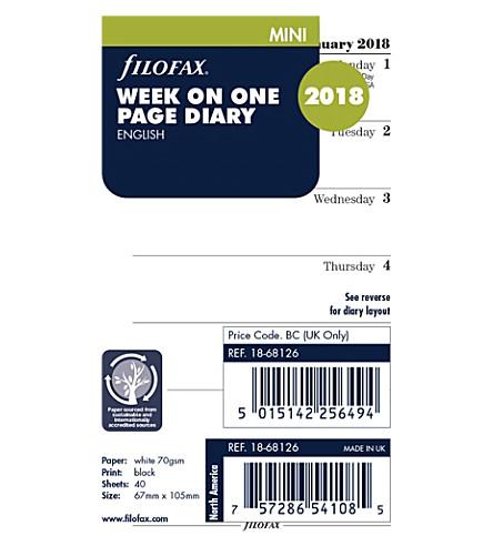 FILOFAX Filofax mini week per page 2018