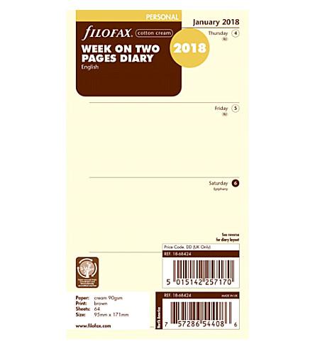 FILOFAX Filofax prsnl wk 2 pages ctn crm 2018