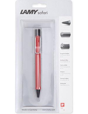 LAMY Safari red ballpoint pen