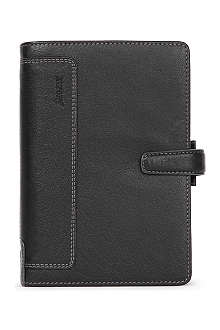 FILOFAX Holborn black leather A5 personal organiser
