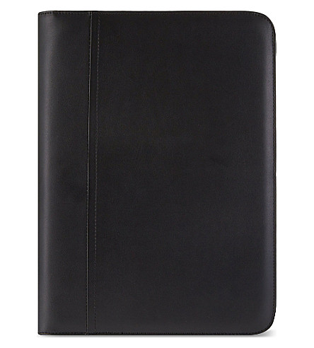 FILOFAX Metropol zipped A4 folder with calculator black
